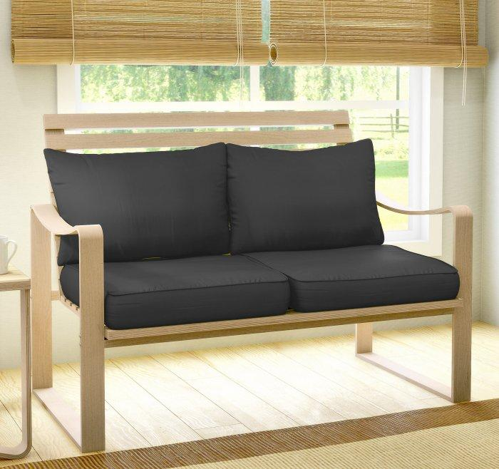 Contemporary loveseat sofa - with soft cushions