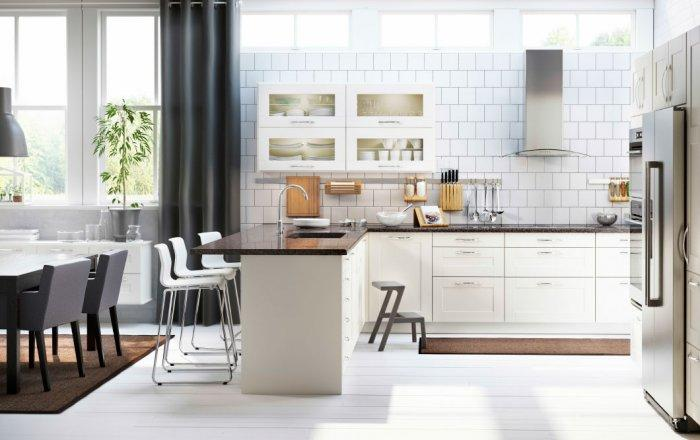 Modern Kitchen Cabinets with Glass Doors Founterior