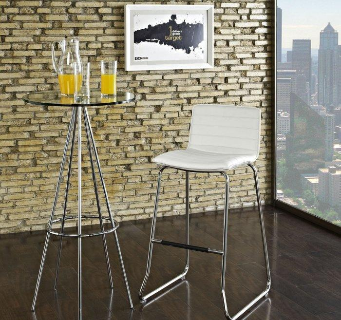 Contemporary urban kitchen bar stool - with metal legs