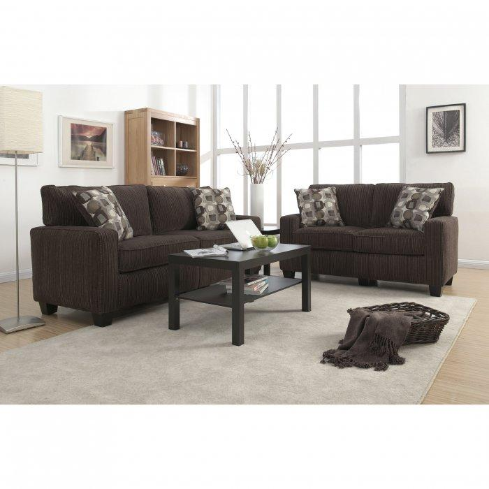 ... Living Room Sofas And Chairs Inspiring · Dark Brown Loveseat Sofa A Set  Of Two Sofas ... Part 64