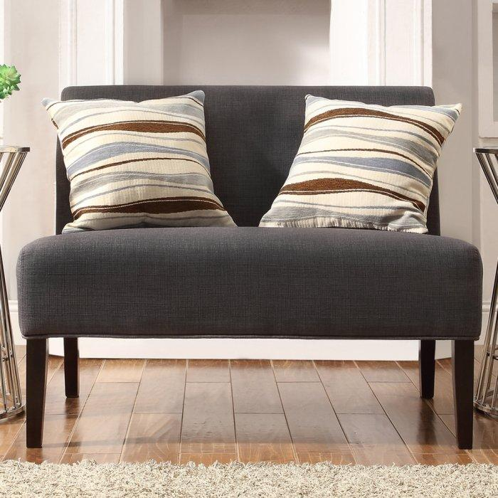 Dark grey loveseat sofa - with soft upholstery