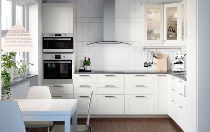 Elegant modern kitchen cabinet - with small glass door