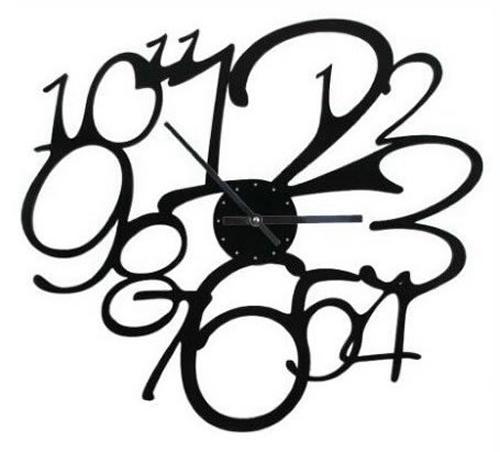 Frivolo Black Wall Clock