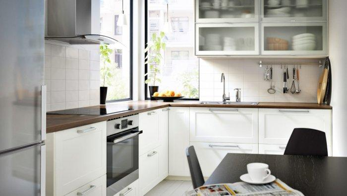 Large modern kitchen cabinet - with glass door