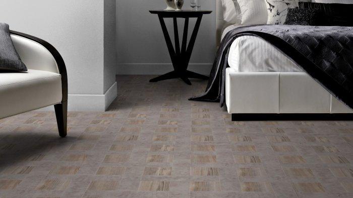 Light designer floor tiles - for exciting bedroom