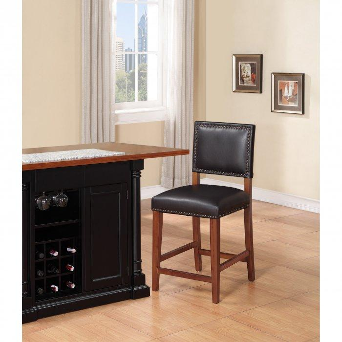 Luxurious kitchen bar stool - with leather seat