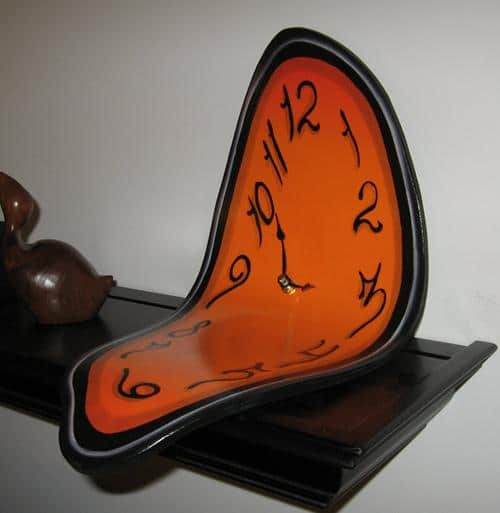 Melting Clock For Shelf