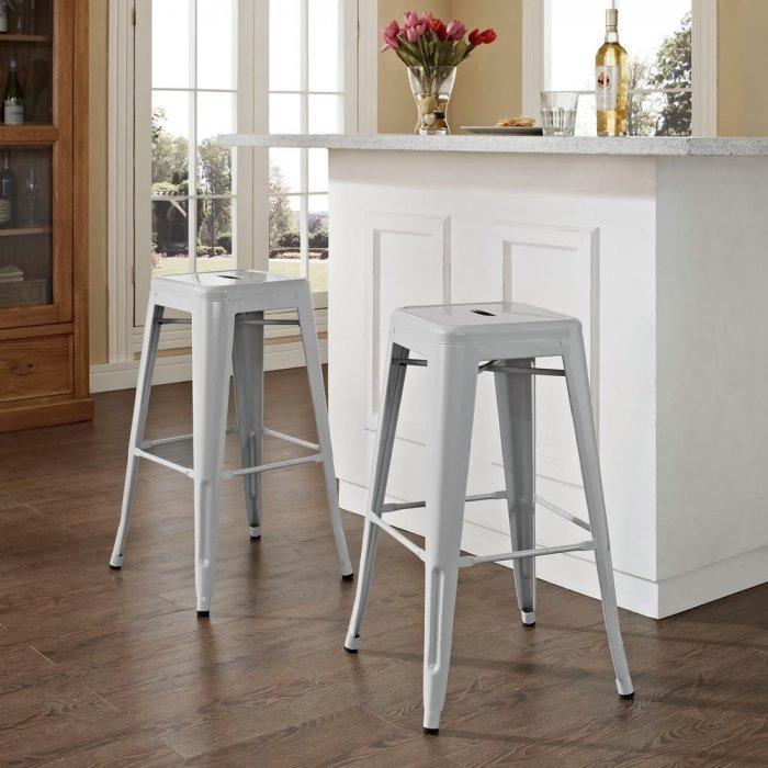 Minimalist kitchen bar stool - made of metal