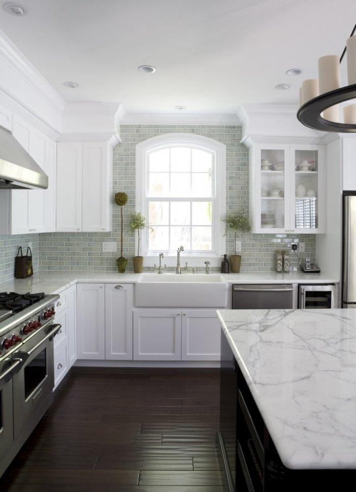 New York marble kitchen countertop - in a luxurious house