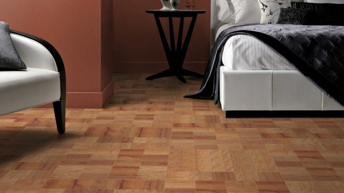 Random colored designer floor tiles - in brown color