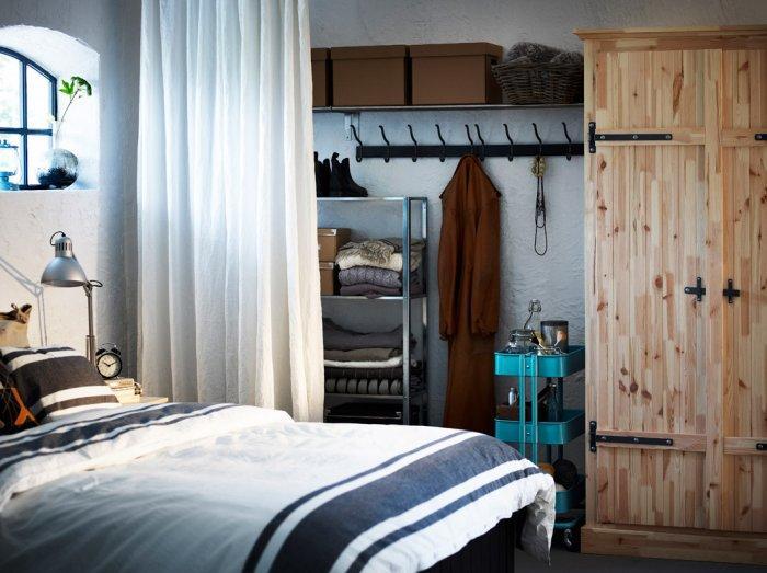 Rustic bedroom wardrobe - in a farmhouse