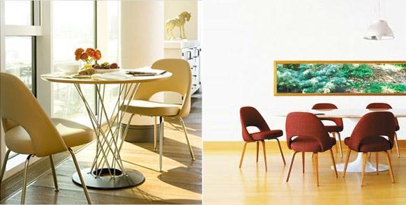 Saarinen dining chair usage
