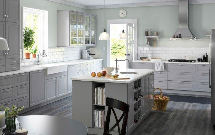 Scandinavian modern kitchen cabinet - wtih glass door
