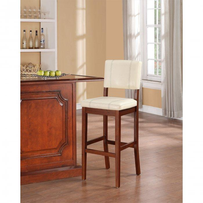Simple traditional kitchen bar stool - with white seat  sc 1 st  Founterior & Kitchen Bar Stools u2013 Great Ideas and Designs | Founterior islam-shia.org