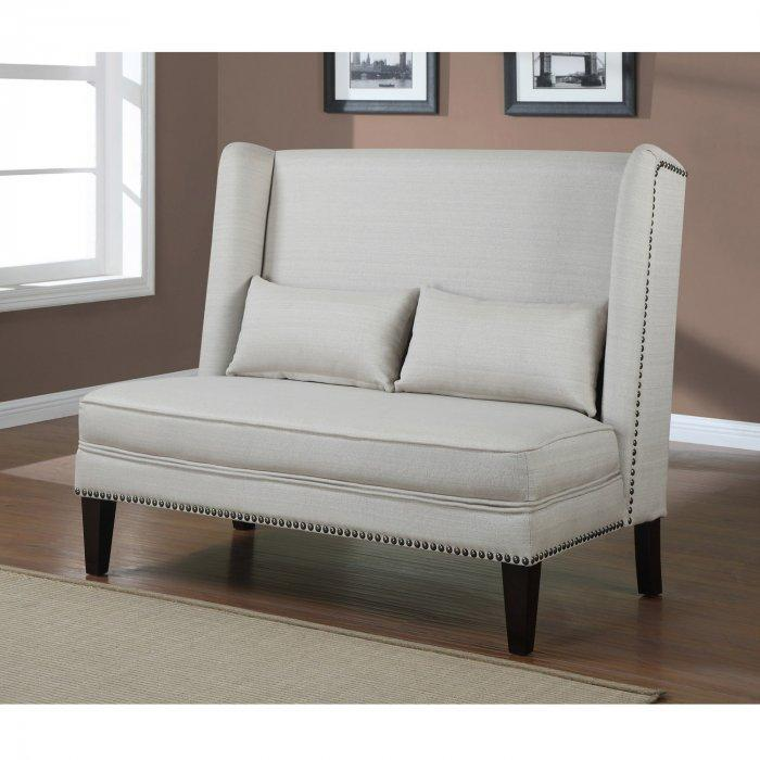 Small loveseat sofa - with high backrest