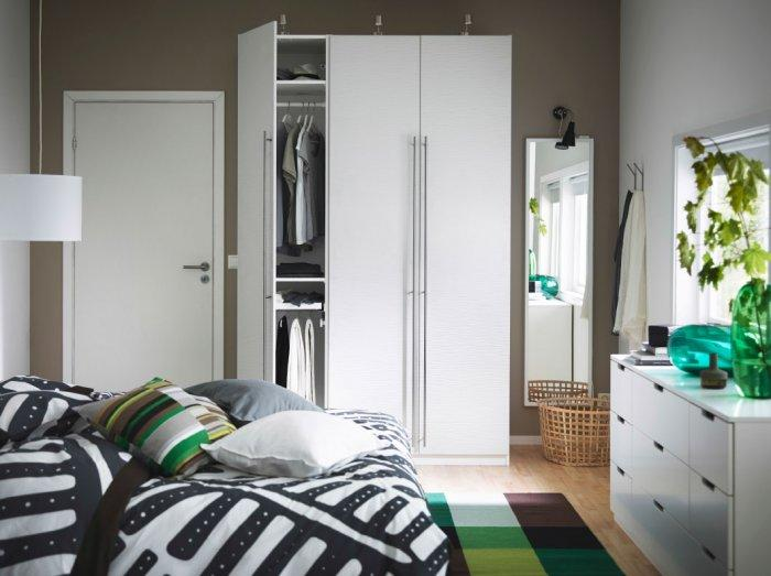Small modern bedroom wardrobe for small bedrooms founterior - How to decorate a modern bedroom ...