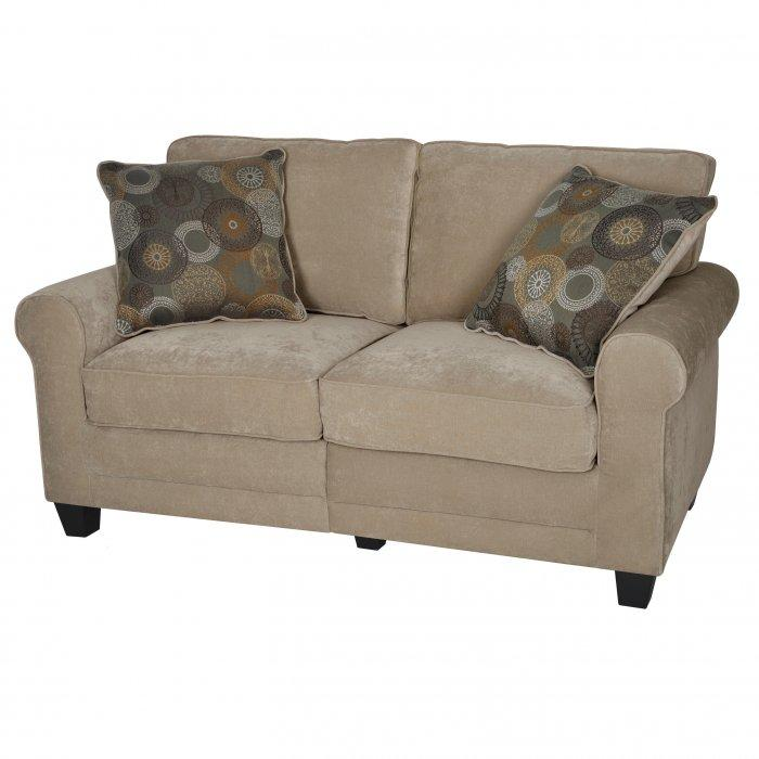 Soft loveseat sofa - with patterned cushions