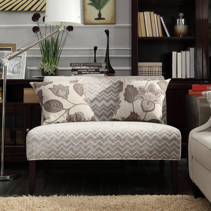 Striped loveseat sofa - in pale colors