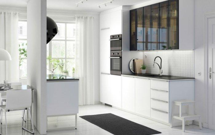 Stylish modern kitchen cabinet - with matted glass door