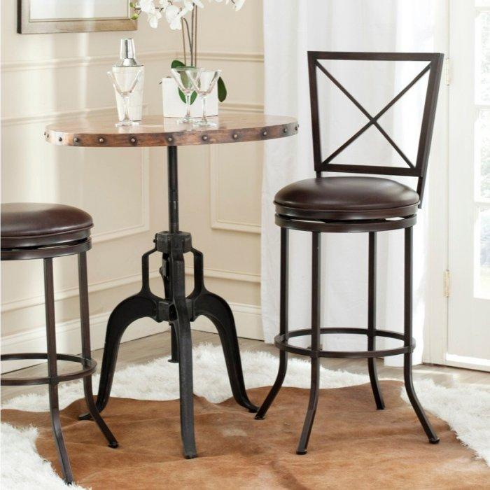 Traditional Kitchen Bar Stool   Used Near A Small Wooden Table
