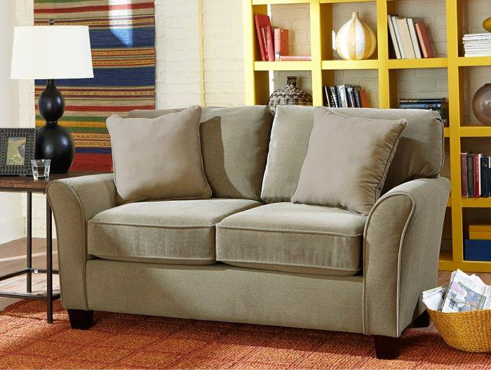Traditional Loveseat Sofa In Beige Color Founterior