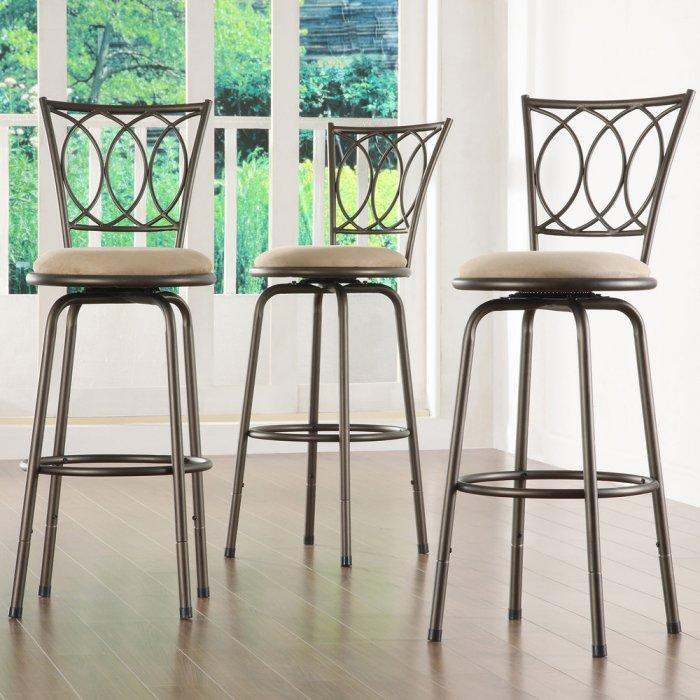Tribeca kitchen bar stool - with iron backrest