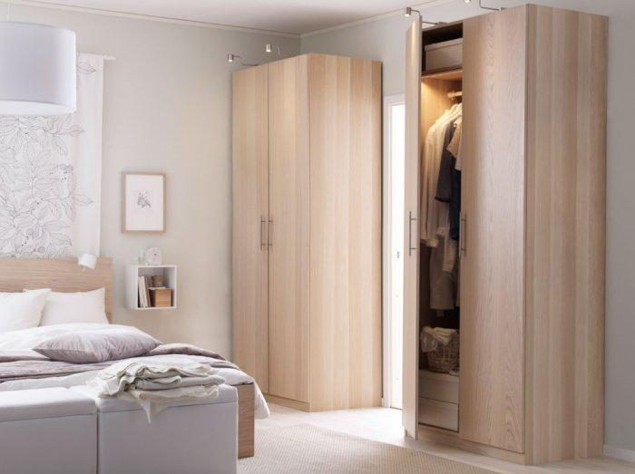 Awesome Two Sectional Small Bedroom Wardrobe   For Small Apartments