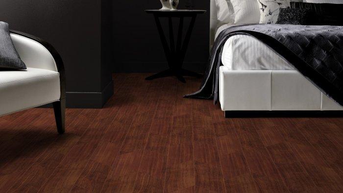 Very dark designer floor panels - with fishbone pattern