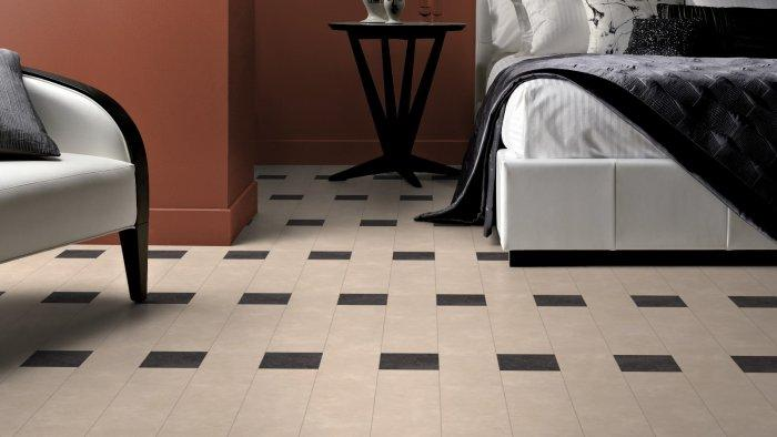 White Designer Bedroom Floor Tiles   For A Simple And Elegant Look