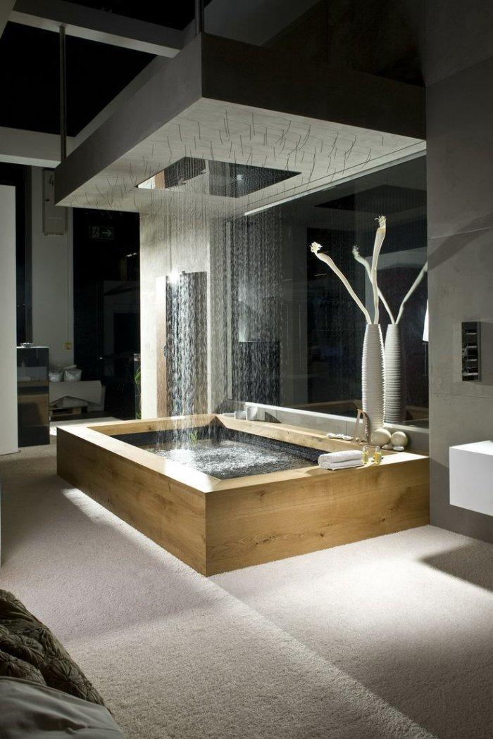 Zen luxurious bathtub - in Japanese style