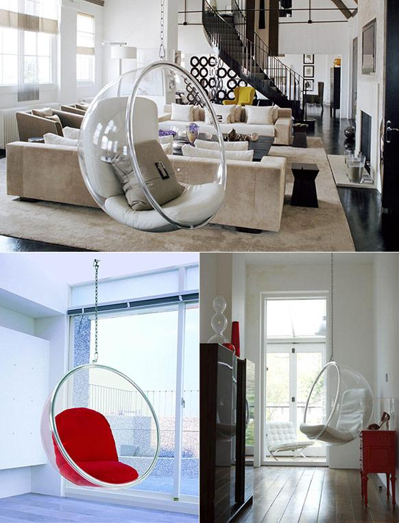 bubble chair usage