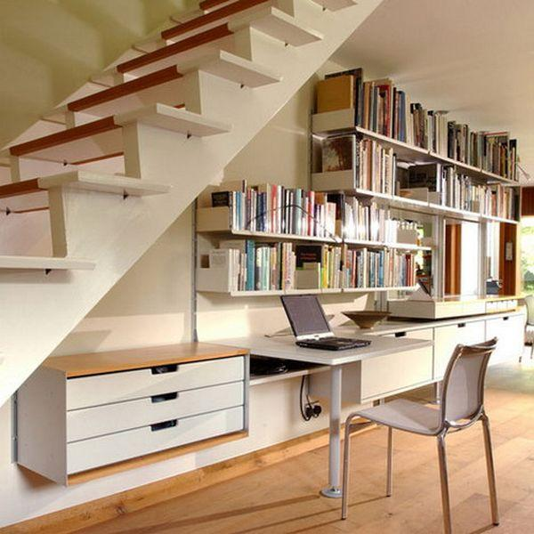home office under stairs storage1
