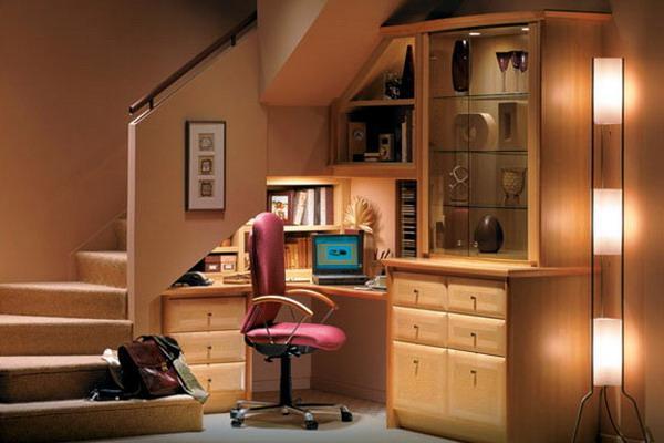 home office under stairs storage2