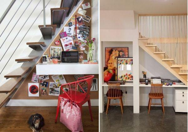home office under stairs storage5