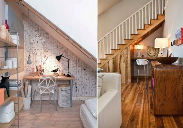 home office under stairs storage9