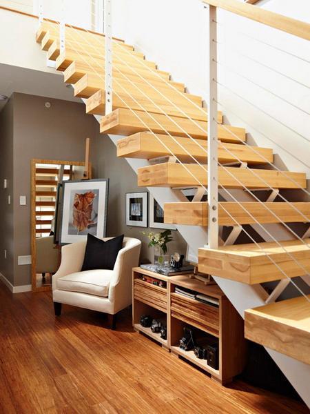 storage ideas under stairs in hallway3