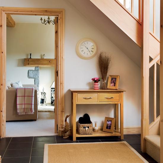 storage ideas under stairs in hallway5