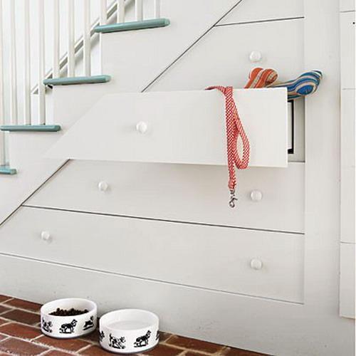 storage ideas under stairs in hallway7