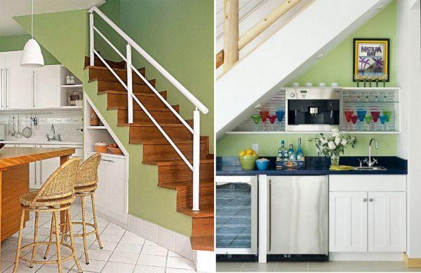 storage ideas under stairs in kitchen2