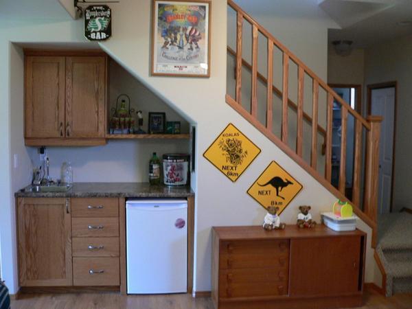 storage ideas under stairs in kitchen3