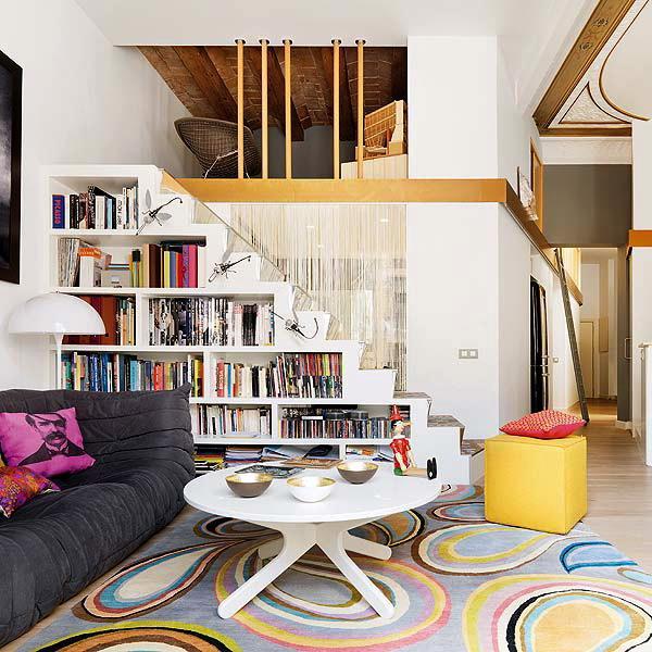 storage ideas under stairs in livingroom2