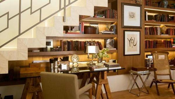 storage ideas under stairs in livingroom3