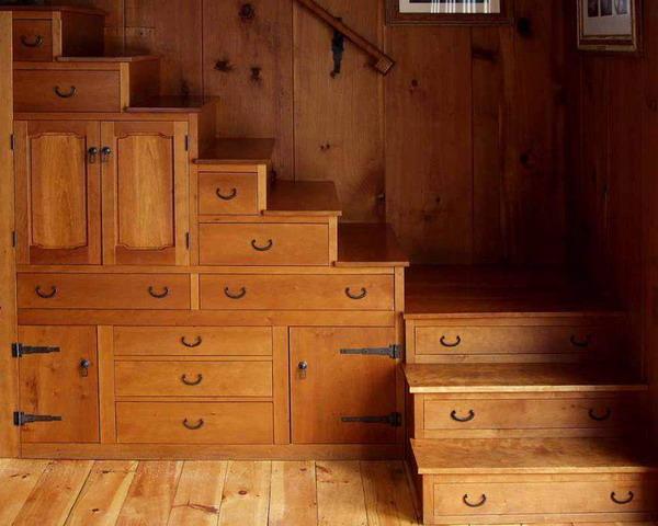 t drawers built under stair storage 3