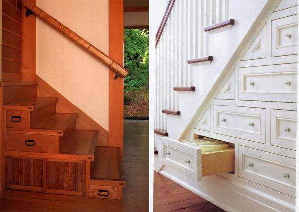 t drawers built under stair storage 6