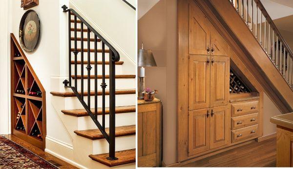 t wine storage under stairs 7