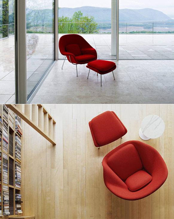 womb chair usage