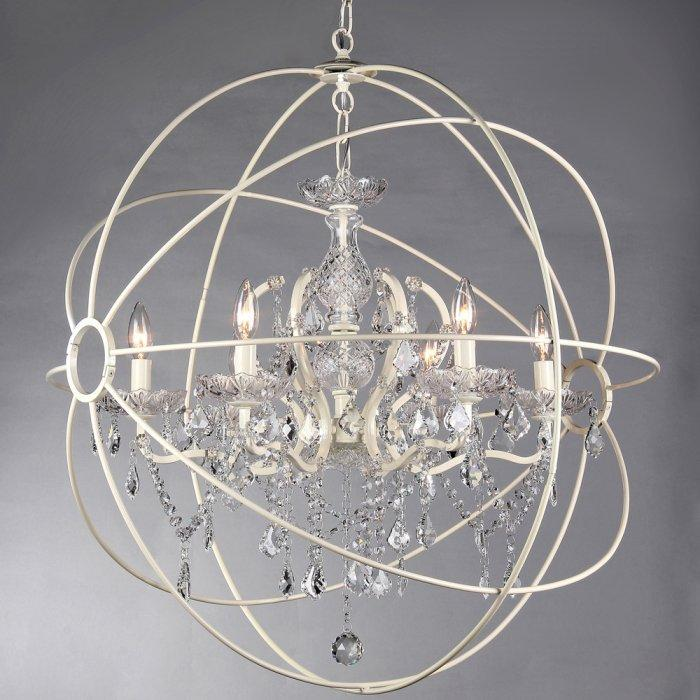 Abstract crystal chandelier - with sphere shape