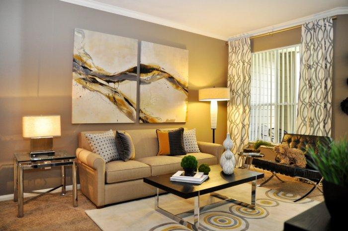 Abstract wall painting - for living room