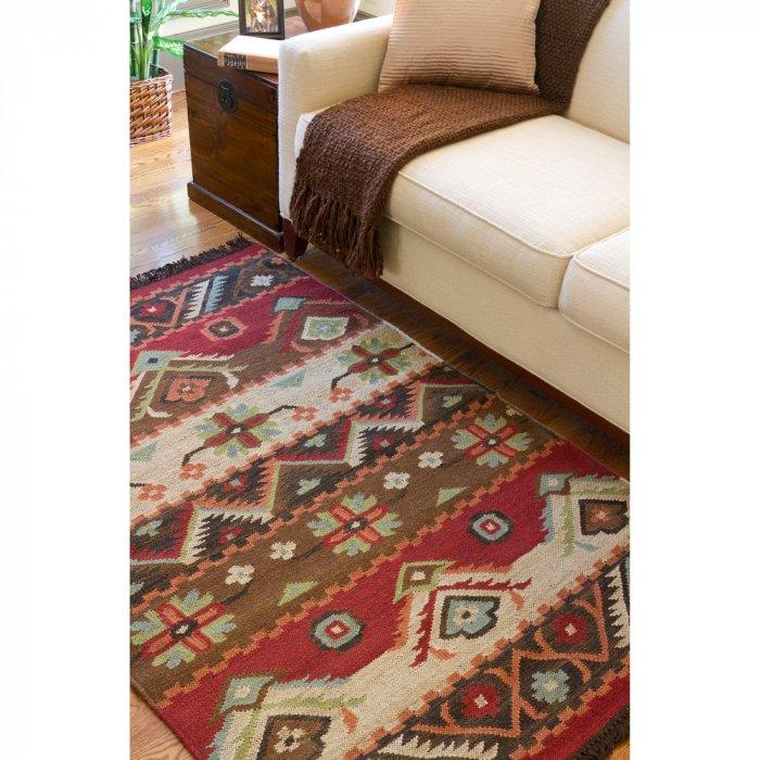 Aztec woven area rug - for mountain cottage