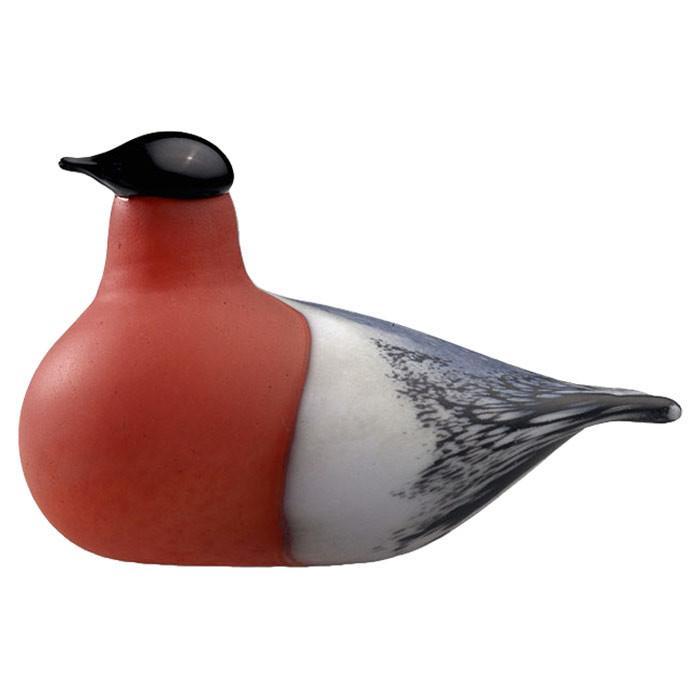 Bird glass figurine - with red throat
